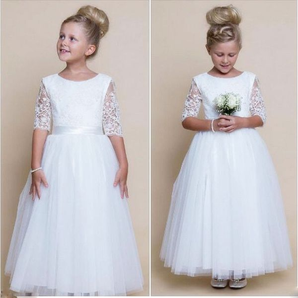 Flower Girl Dress Birthday Wedding Bridesmaid Formal Pageant Recital Graduation