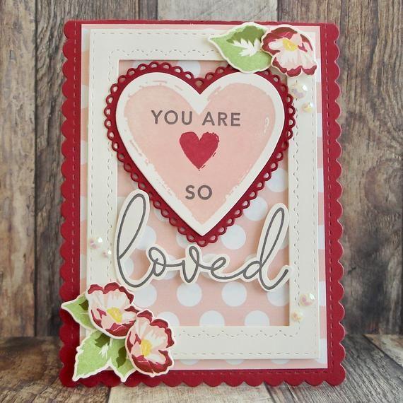 so loved card for partner friend or family handmade