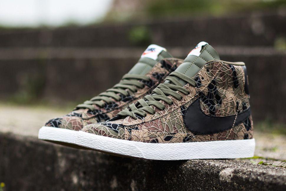 sports shoes a9e78 eed55 Nike Blazer Mid Premium Vintage QS Safari (Jungle Camo)