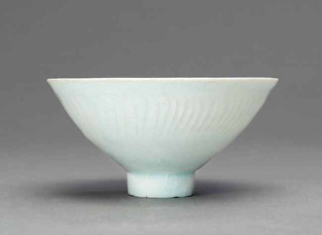 A Qingbai Boys Bowl Song Dynasty 96 1279 Standing On A High Foot The Interior Carved With Three Boys Under A Pale Blueish Glaze Bowl Chinese Bowls Tea Bowls