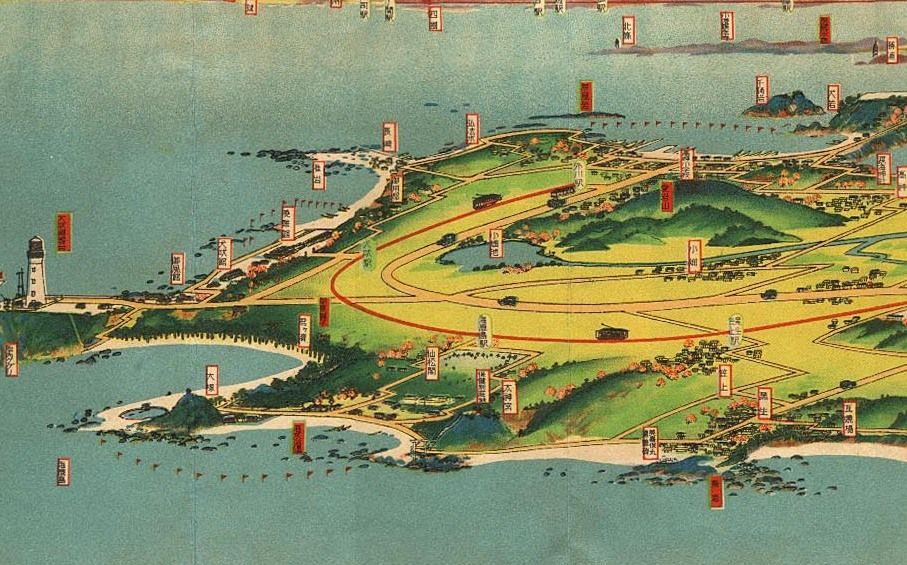Bird\'s Eye View Maps of Cartographer Hatsusaburo Yoshida | Pinterest ...