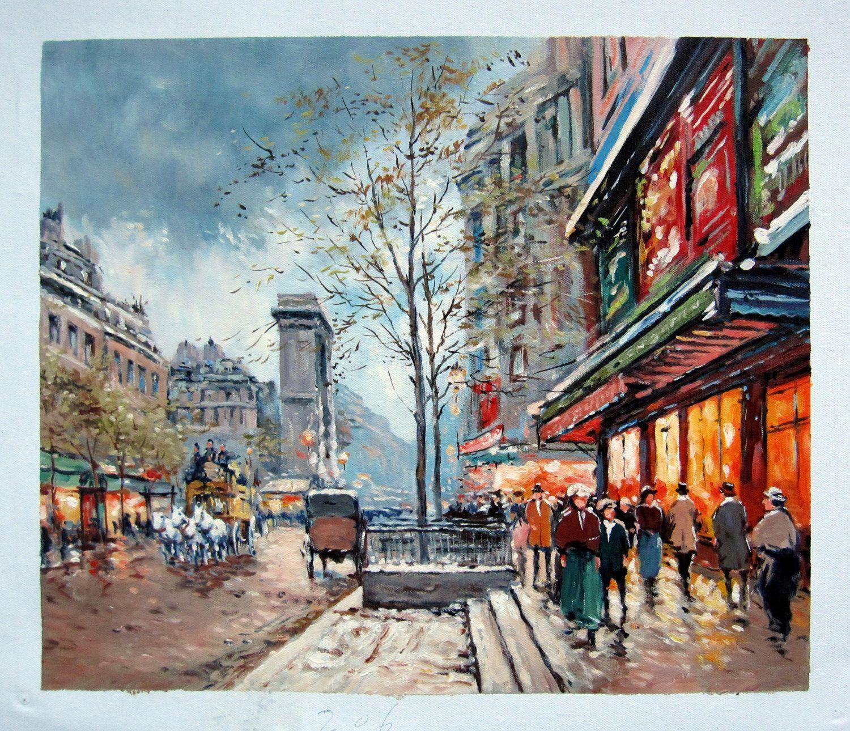 20 by 24 paris street scene nr126 museum quality