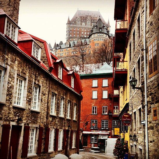 Chateau Frontenac in Quebec City, Canada @adamjhamilton7