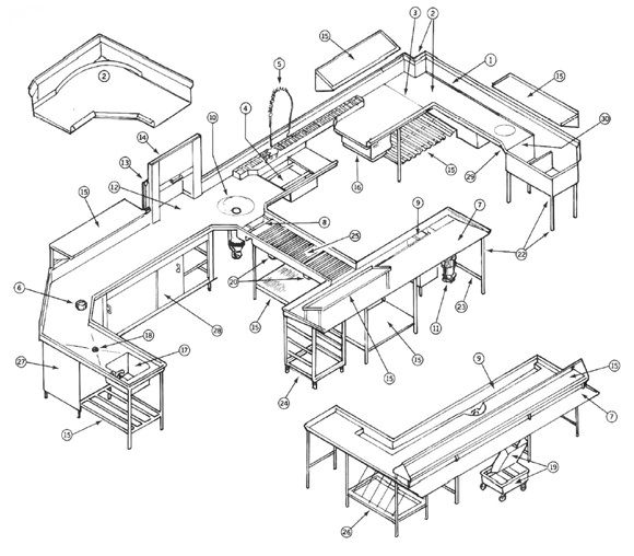 marvellous modern industrial kitchen ideas | Marvelous-Commercial-Kitchen-Design-Modern-Style ...