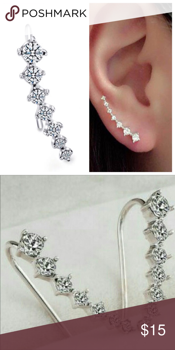 Bundle 2 Items For 20 Sale Silver Ear Cuffs Nwt With Images