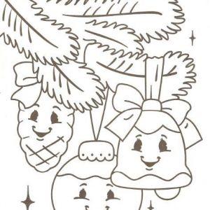 Картинки раскраски для детей новогодние веточка с ...