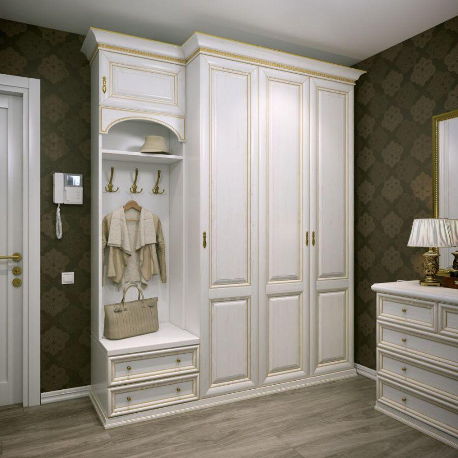 Шкаф в прихожую | Шкаф в прихожей, Белые шкафы и ... Дизайн Спальни С Угловой Гардеробной