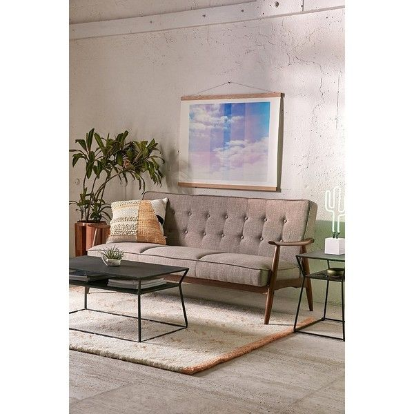 Wyatt Vegan Leather Sofa (840 CAD) ❤ Liked On Polyvore Featuring Home,  Furniture