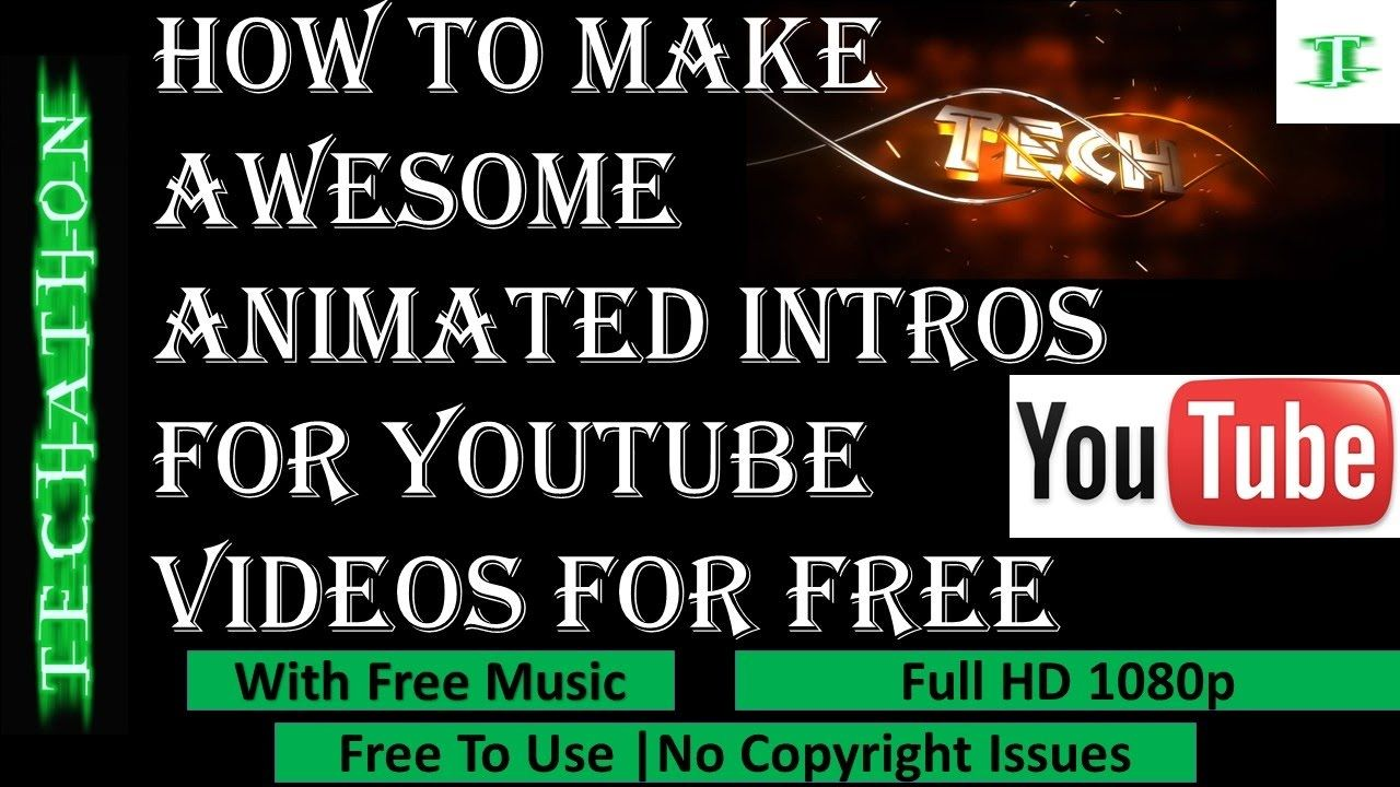 How to make animated intro for youtube videos for free