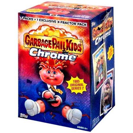 Topps Garbage Pail Kids Chrome 1985 Original Series 2 Value Box Walmart Com Garbage Pail Kids Pail Garbage