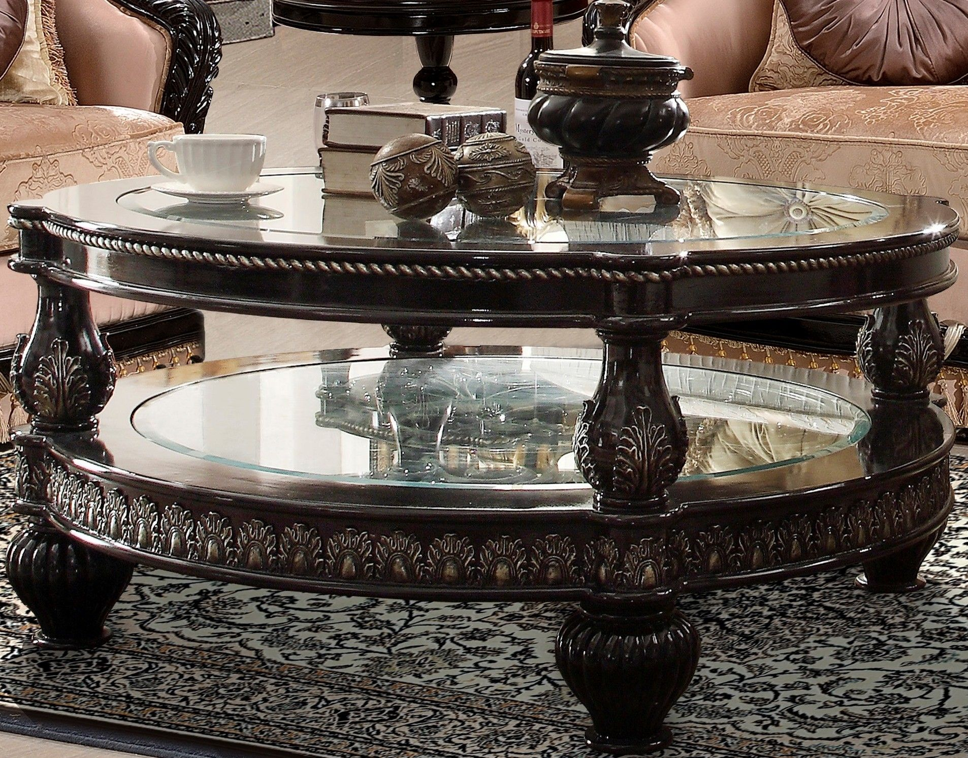 Homey Design Hd 1208 Round Glass Coffee Table Coffee Table Round Glass Coffee Table Coffee Table Wood [ 1492 x 1906 Pixel ]
