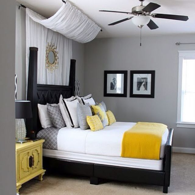Amazing Bedroom. Could Use Any Other Bright Color Really