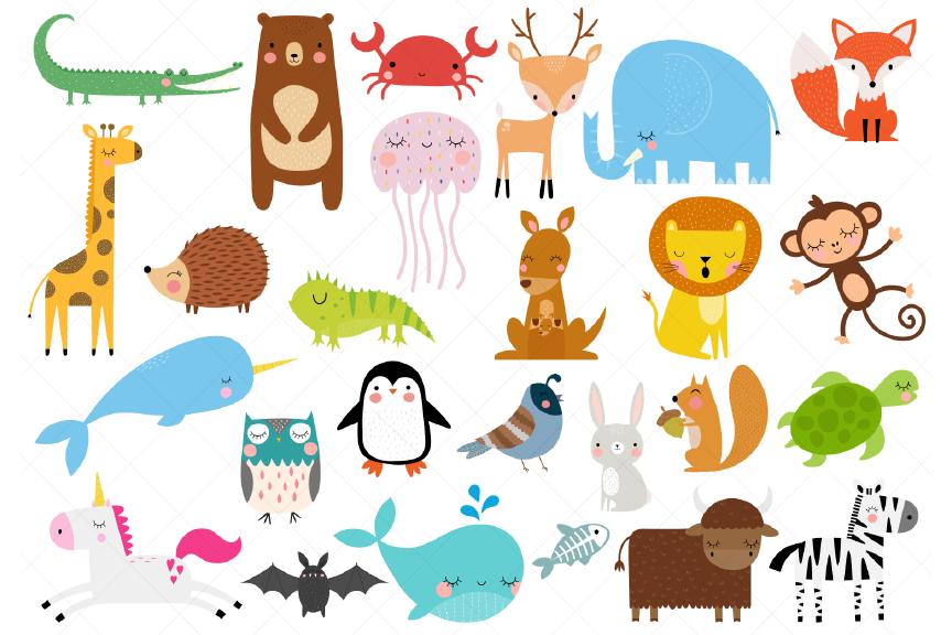 Animals Of The Alphabet Clipart A To Z Animals 382805 Illustrations Design Bundles In 2021 Alphabet Clipart Clip Art Animal Alphabet