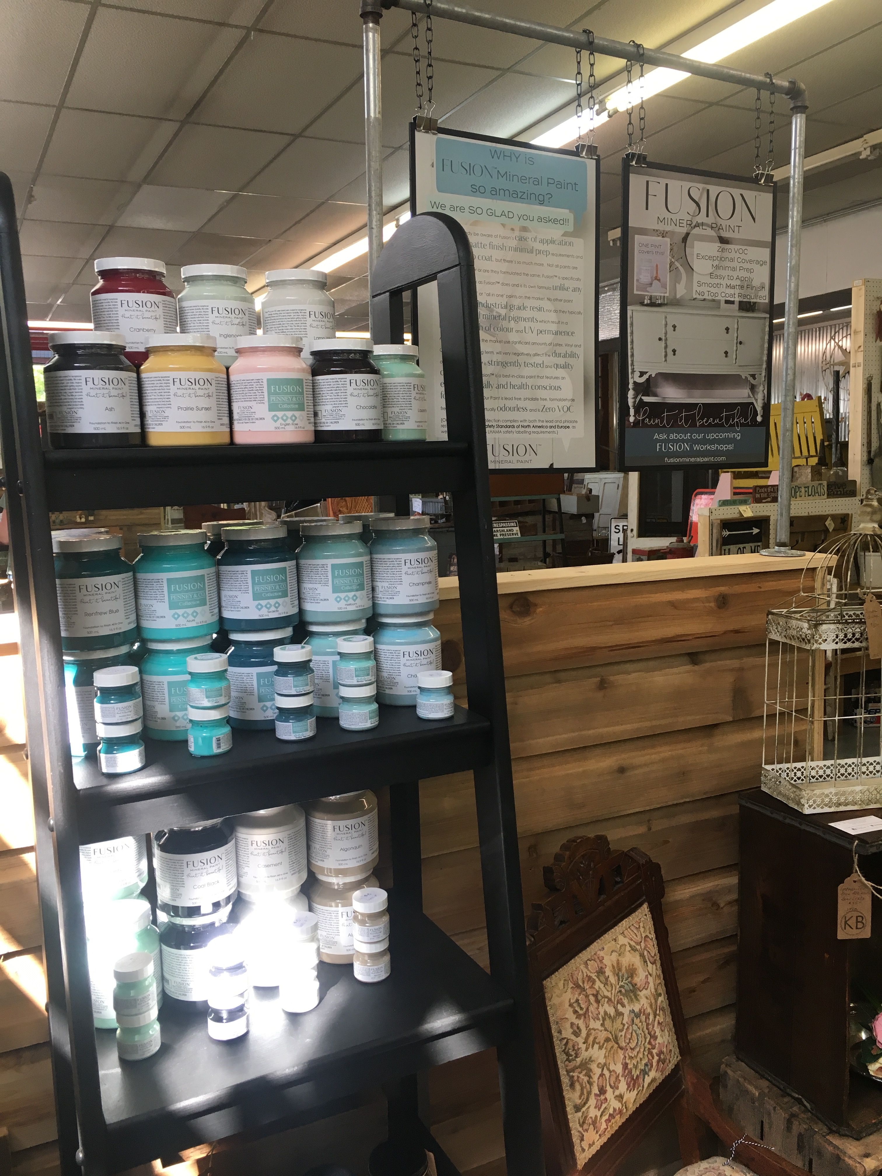 Fusion Mineral Paint Available At The Upcycle Home Decor Booth