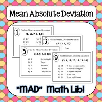 Mean Absolute Deviation Math Lib Success In Secondary Pinterest