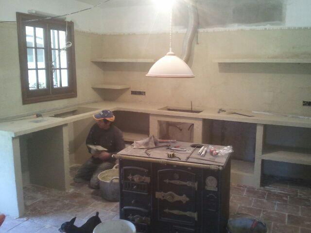 Resultado de imagen para cocinas de cemento y ceramica for Cocinas de concreto pequenas