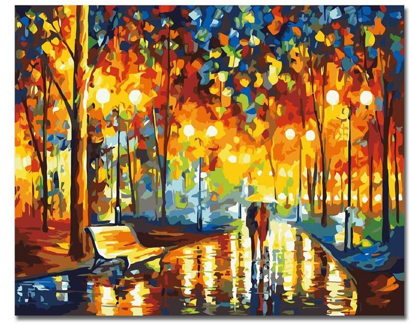 CHENISTORY Frameless DIY Painting By Numbers Landscape Painting ...