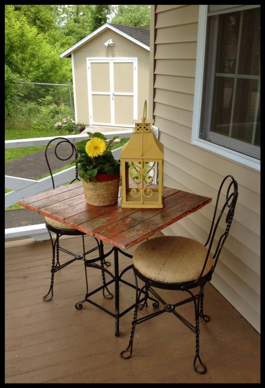 Burlap Bistro Set By Funcycled Www