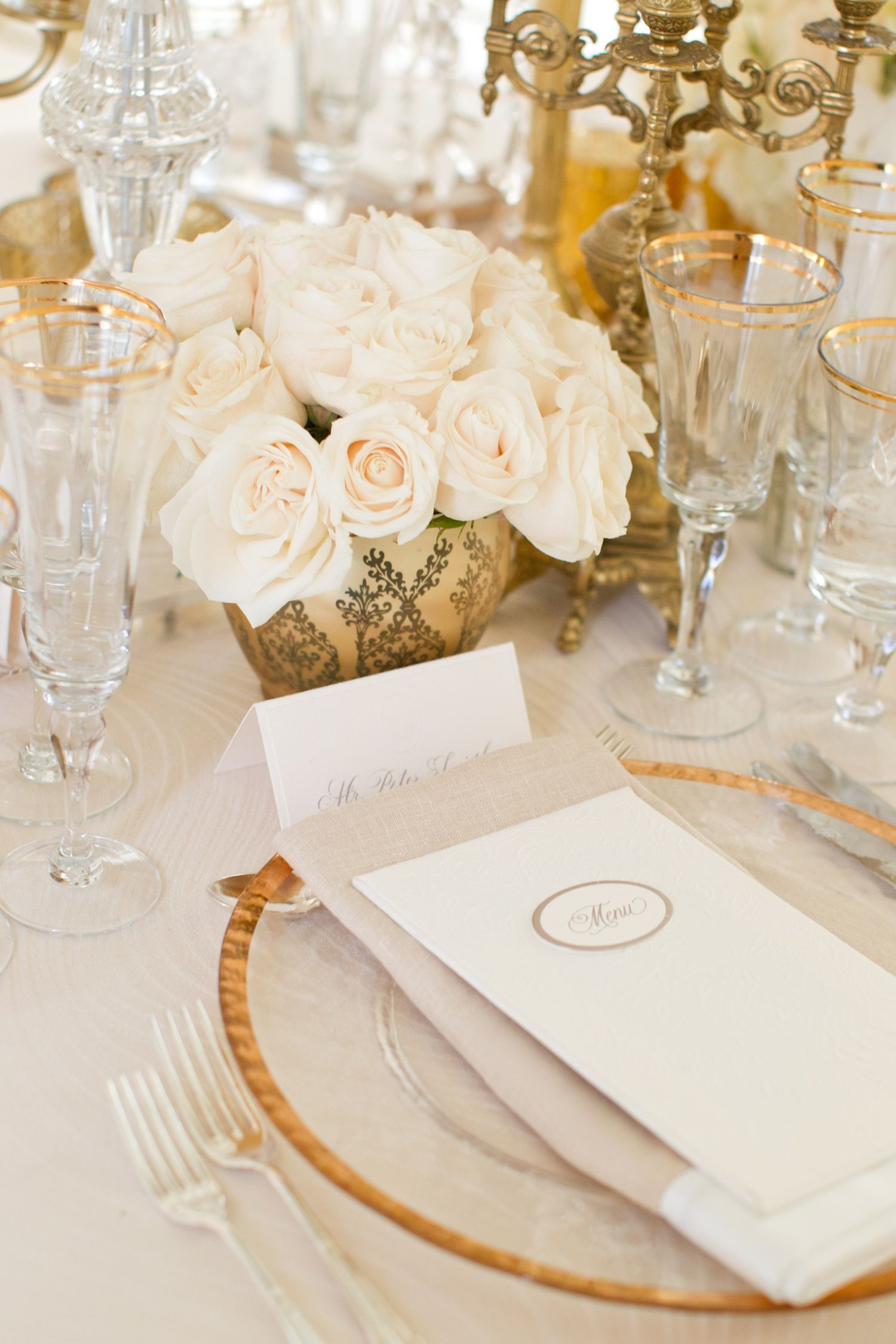 Elegant All-White Country Club Wedding with Natural Greenery ...