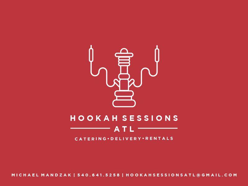 Hookah Sessions Atl Logo Business Card Business Card Logo