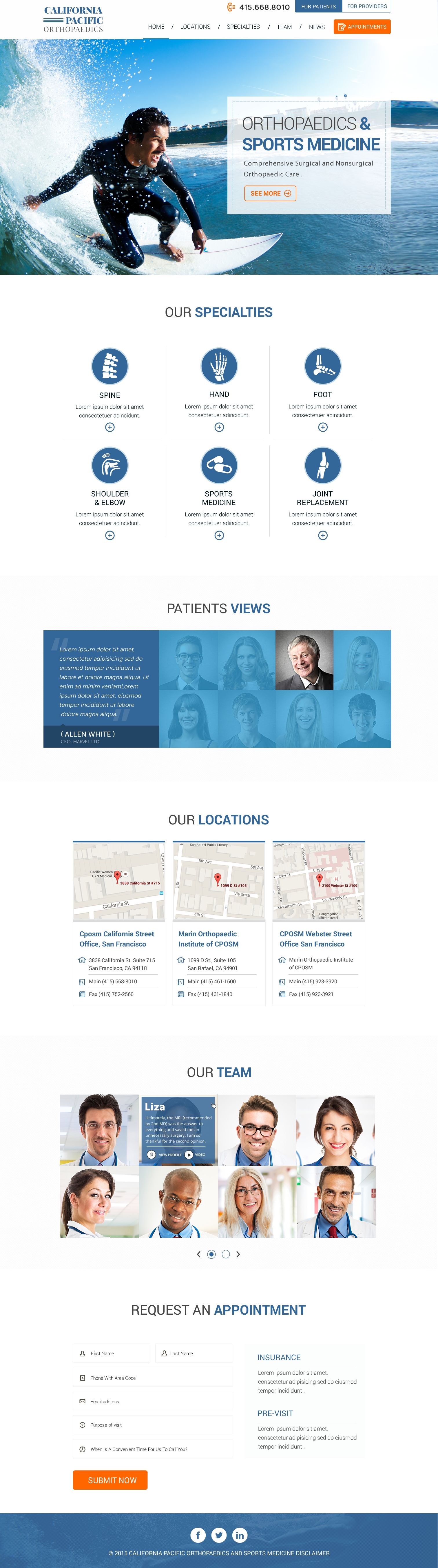 Pin By Axpertech On Our Work Sports Medicine Site Design Website Design