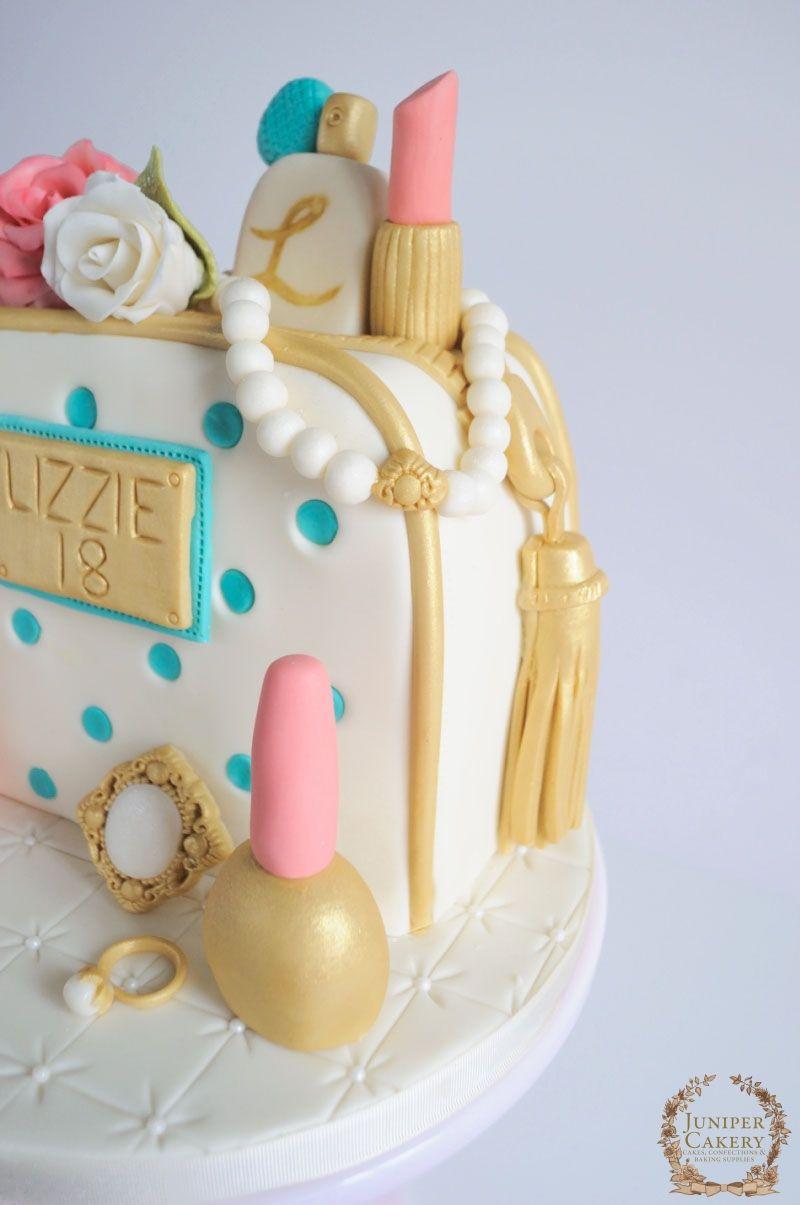 Pleasing Roses Cosmetics And Jewels Birthday Cake Jewel Cake Cake Funny Birthday Cards Online Unhofree Goldxyz