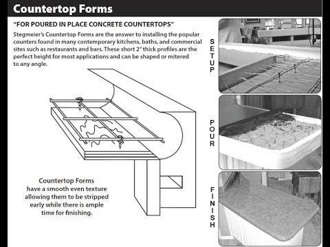 328 Stegmeier Pour In Place Concrete Counter Top Forms Youtube