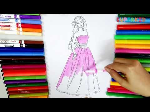 Barbie Coloring Pages Learning Colors For Funny Kids By Coloring Barbie Youtube Barbie Coloring Coloring Pages Barbie Coloring Pages