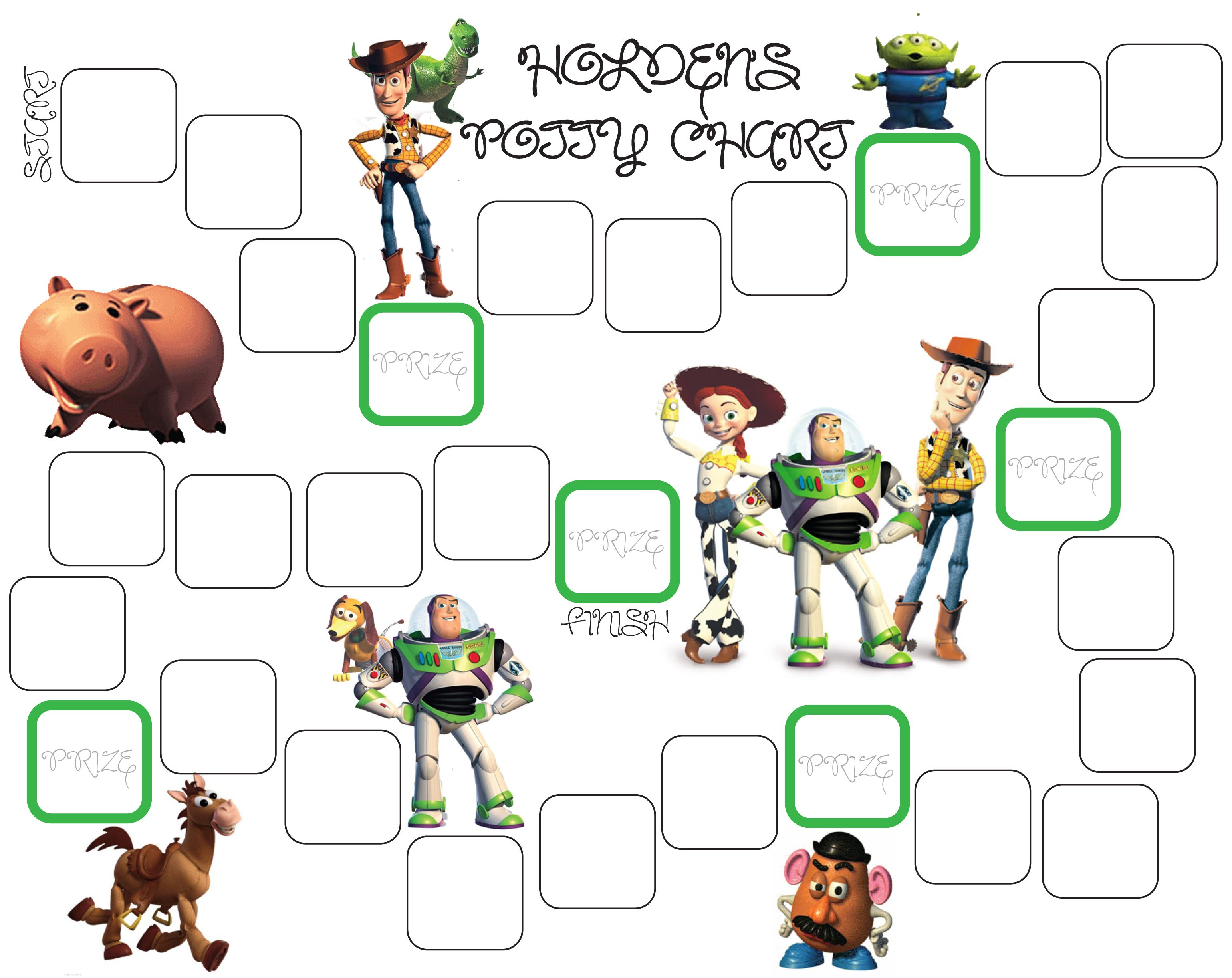 Toy Story Potty Training Chart : Toy story potty chart training pinterest