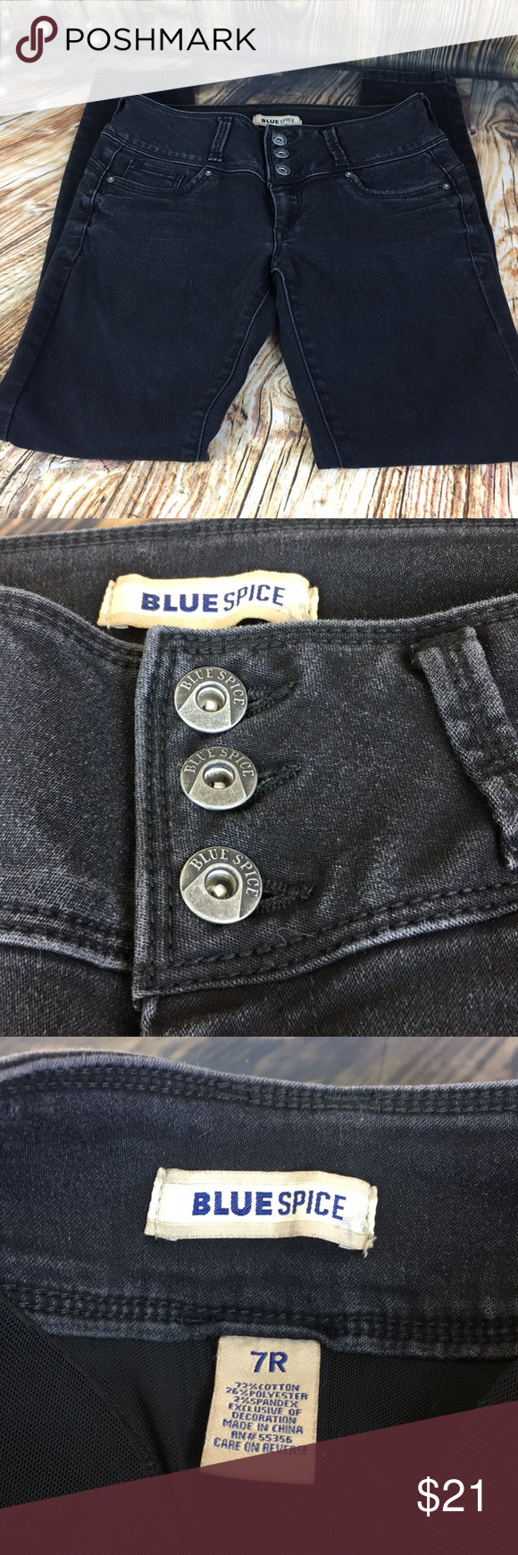 527232bba68 Blue spice black denim booty jeans sz 7 These have butt pads to enhance  your back side Blue Spice Jeans Skinny