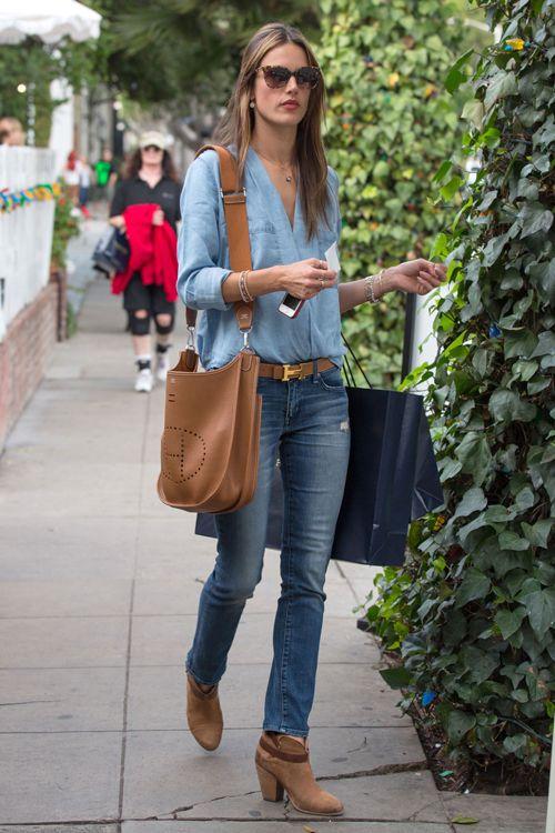 Denim On Hermes Evelyn Bag Bags Handbags Fashion