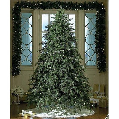 The prettiest fake tree ever!!! 9\u0027 HUNTER FIR ARTIFICIAL XMAS TREE W