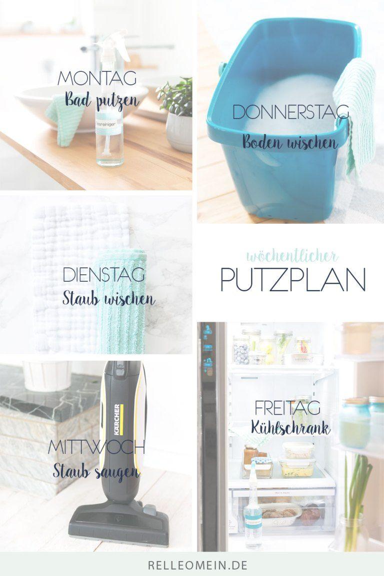 Putzplan Mein Wochentlicher Plan Fur Ein Sauberes Zuhause Wochentlicher Putzplan Putzplan Reinigungsplan