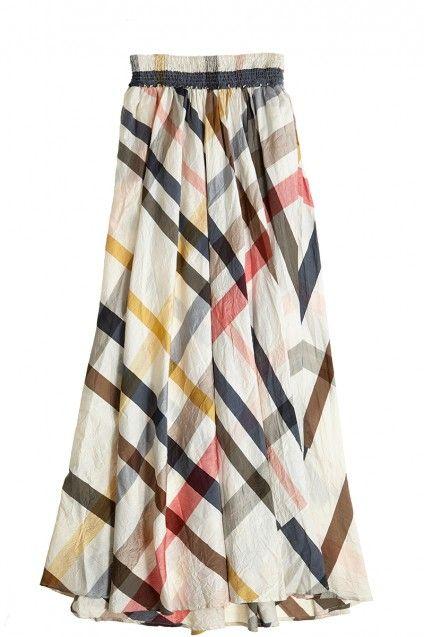 Plaid maxi skirt. | Armario | Pinterest