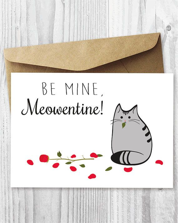 image relating to Funny Valentines Day Cards Printable titled Printable Valentines Working day Card Cat Valentines Working day Card through