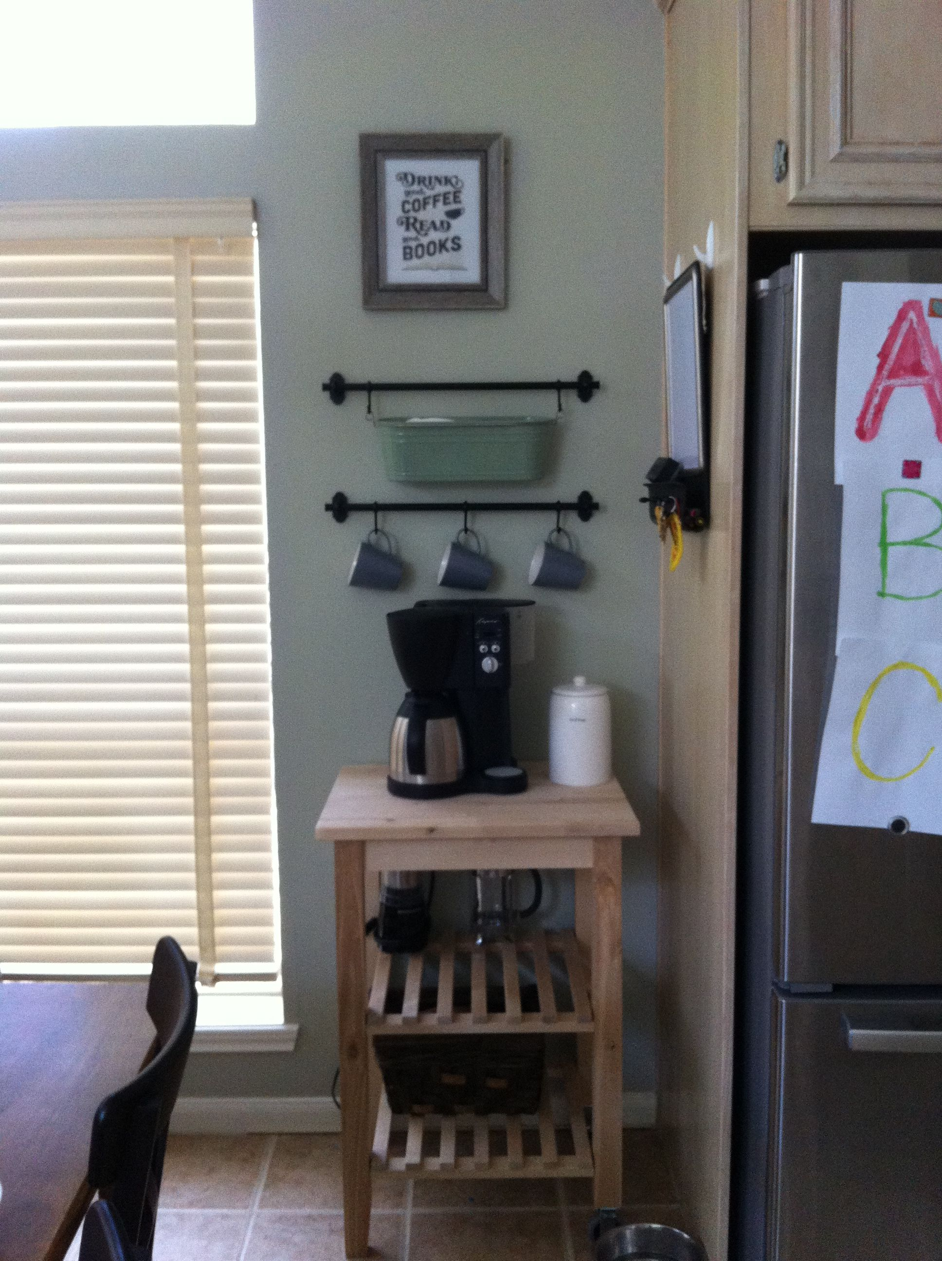 Coffee bar, Ikea style or a home for the kitchen aid (totally should ...