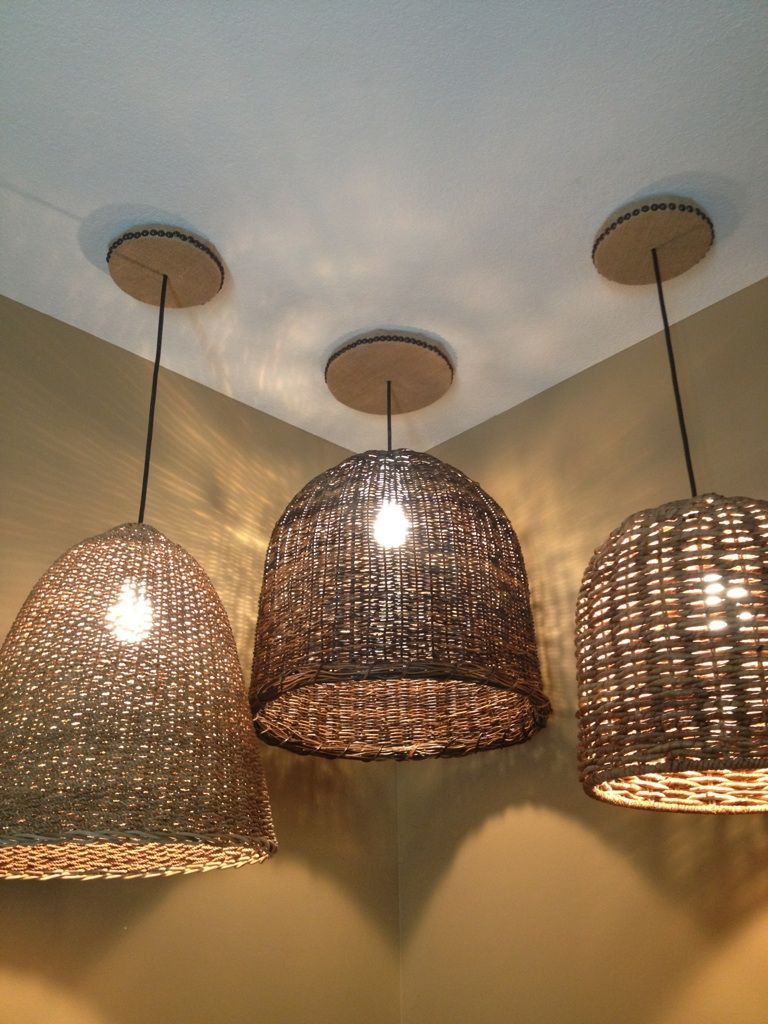 Lighting In Guestroom Pottery Barn We Added The Burlap