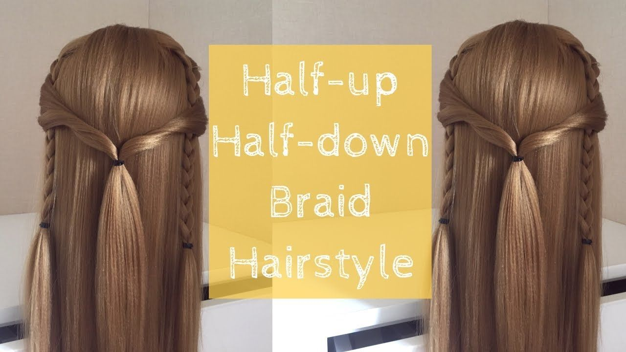 #6 Easy Half-up Half-down Braid Hairstyle for Long Hair | Hairstyle Tuto...
