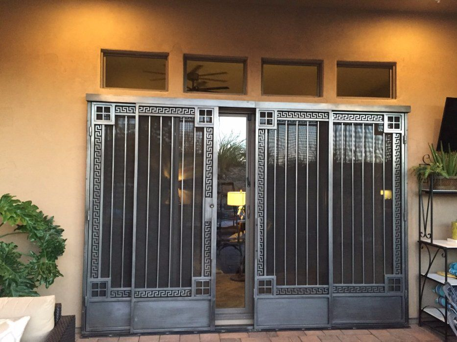 Image result for exterior sliding security screen door