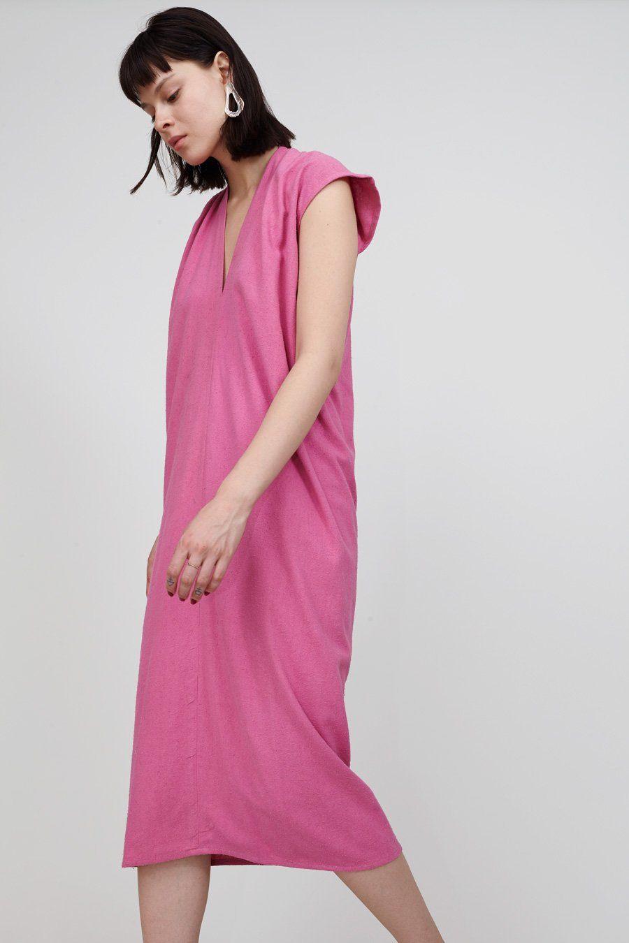 Miranda Bennett Everyday Dress Long in Rio Silk Noil | Everyday ...