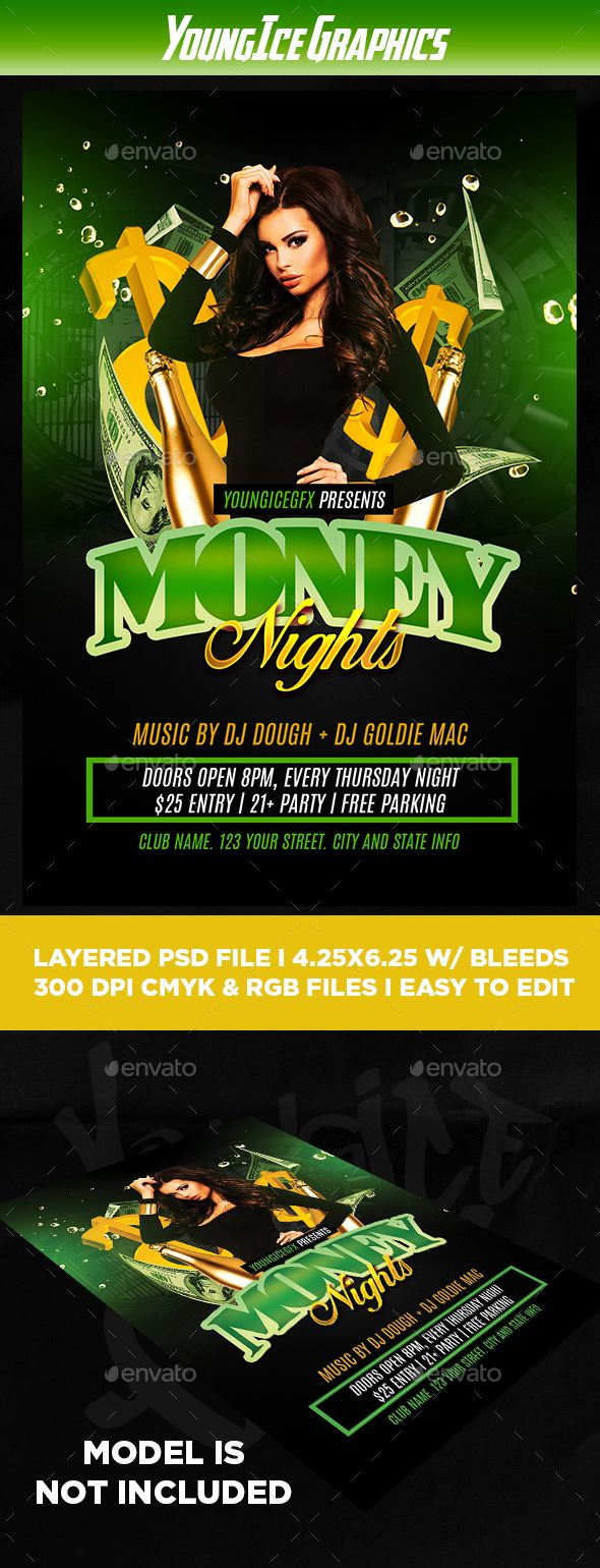 Money Party Flyer Template  Party Flyer Flyer Template And Template