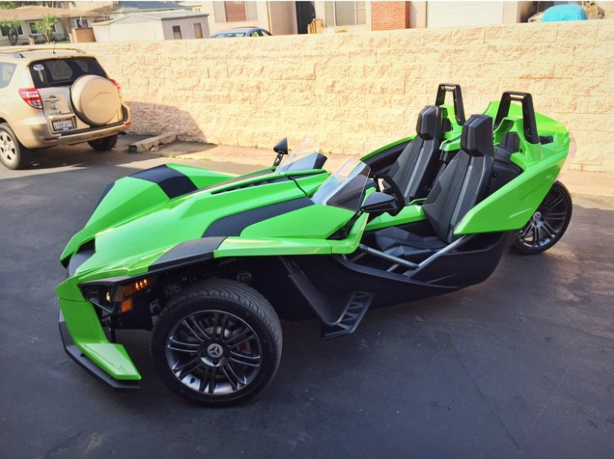 Its Green This Is My Favorite Polaris Slingshot Wrap That I Ve Seen