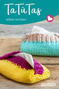 Photo of TaTüTa! Taschentüchertaschen selber geschlagen aus Wollresten