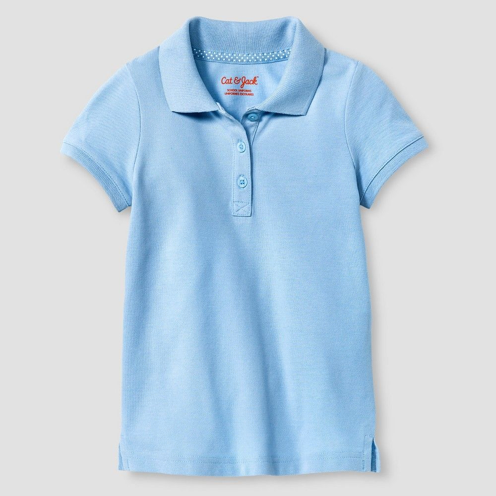c57918eda Toddler Girls' Pique Polo Shirt Cat & Jack - Light Blue 5T, Toddler Girl's
