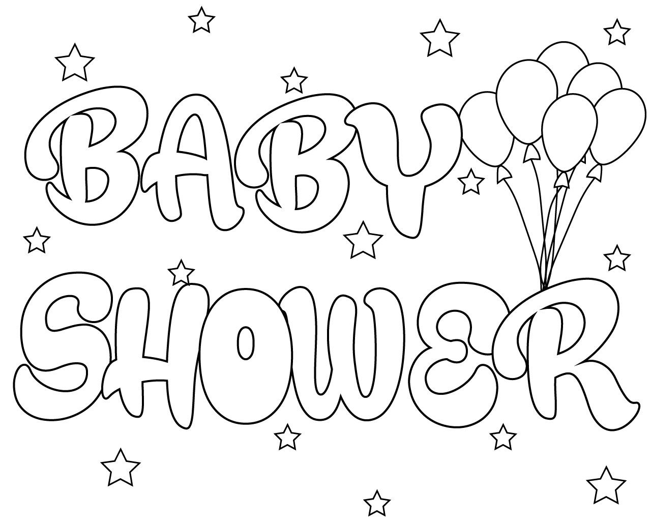 Free Printable Baby Shower Coloring Pages Moldes Para Baby