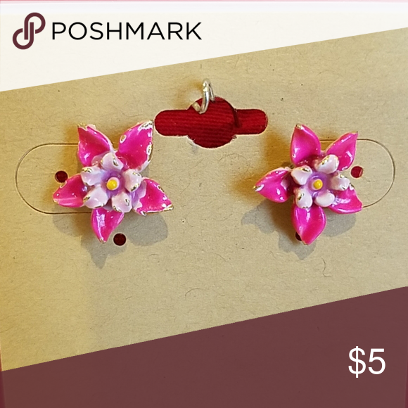 Orchid Flower Stud Earrings Pink Orchid Flowers Jewelry Earrings In 2020 Orchid Flower Flower Jewellery Orchids