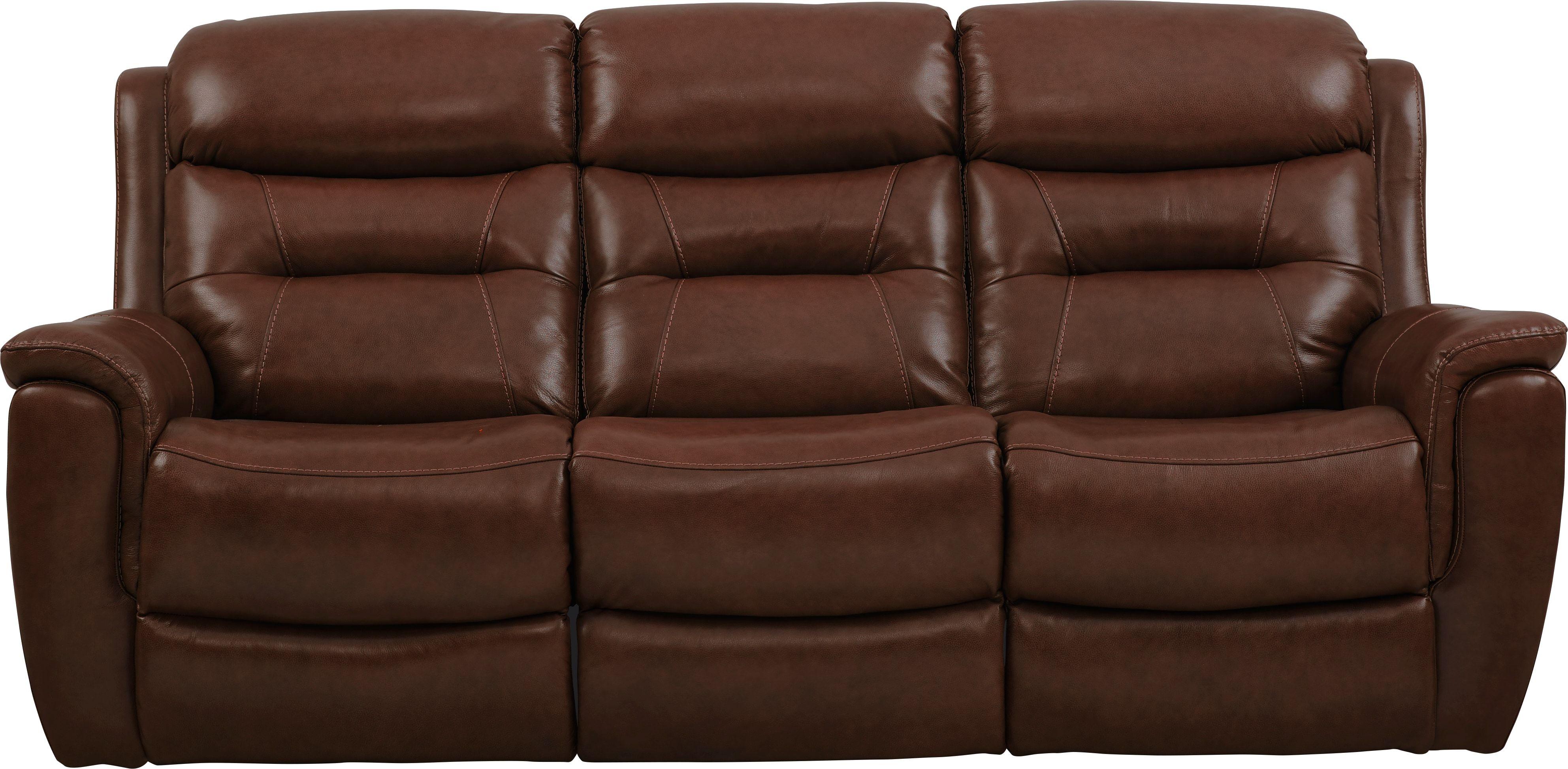 Sabella Walnut Leather Power Reclining Sofa Power Reclining Sofa Reclining Sofa Power Recliners