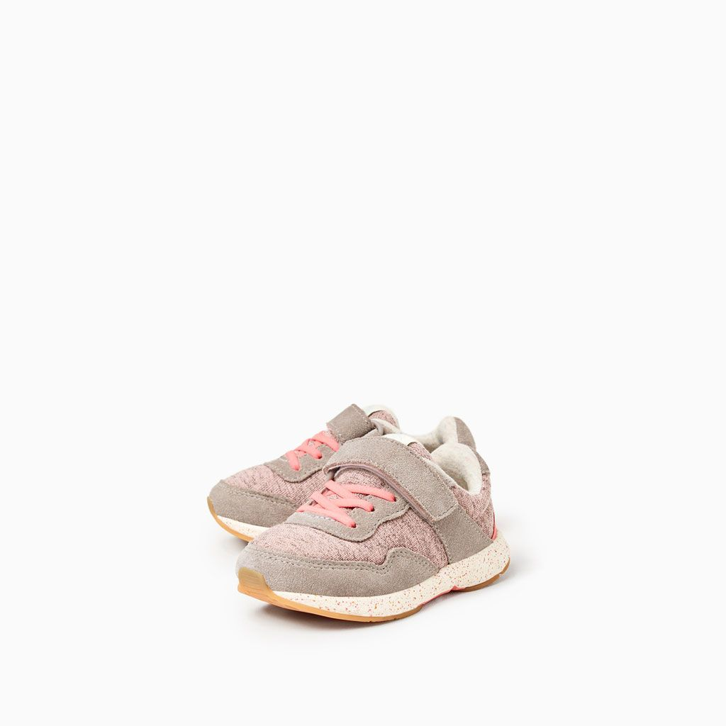 ZARA - KIDS - CONTRAST HOOK AND LOOP SNEAKERS