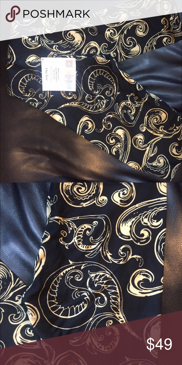 LuLaRoe NWT OS Patterned Leggings LuLaRoe. NWT. OS (2-12). Black background with gold/taupe feathered quills. VERY COOL. Total unicorn status!                                                                       💫CONDITION NWT  💫SMOKE-FREE  & DOG FRIENDLY HOME 💫NO TRADES  💫ALL REASONABLE OFFERS CONSIDERED. LuLaRoe Pants Leggings