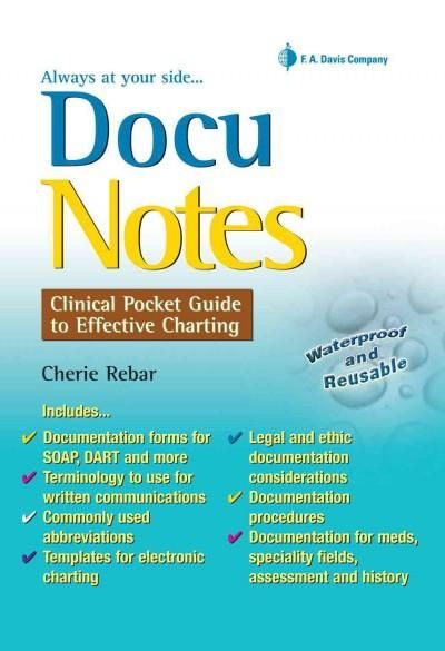 Docunotes clinical pocket guide to effective charting products docunotes clinical pocket guide to effective charting fandeluxe Image collections
